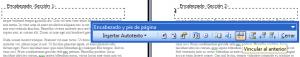 Secciones en Microsoft Word 2003